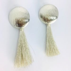 New! Bohemian Tassels Dangle Earrings Silver
